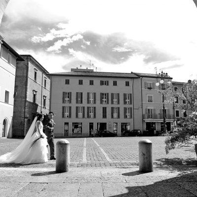 fotografia bianco nero sposi